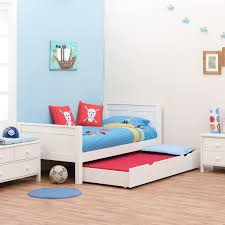 White Single Bed With Storage Single Bed With Trundle Bed By Stompa