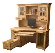 mission wedge desk with optional hutch from dutchcrafters amish
