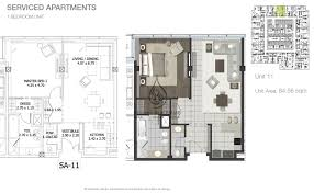 1 Bedroom Apartment Floor Plans by Entisar Tower 1 Bedroom Apartment Unit 12 Floor Plan