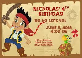 jake neverland pirates birthday party invitation jake