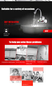 no hot water in kitchen faucet 2018 tankless electric hot water heater faucet kitchen kit with led