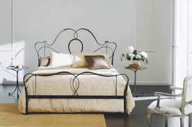 bedroom furniture modern metal bed frame king size wrought iron