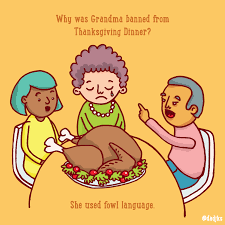 thanksgiving picture jokes dad jokes and fake news u2014 why was grandma banned from thanksgiving