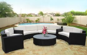 best patio sectional set resin wicker patio sectional metamorf