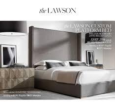 Custom Platform Bed Restoration Hardware The Custom Bed Collections Save 25 On