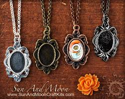diy glass pendant necklace images Diy small pendant kit cute necklace kit includes pendant setting jpg