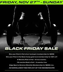 black friday weights performance training