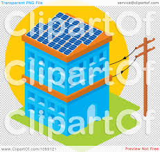 solar panels clipart royalty free vector clip art illustration of a solar powered