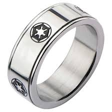 mens spinner rings men s wars imperial symbol stainless steel spinner ring target