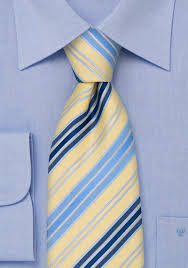 light yellow baby modern striped tie in light yellow baby blue and navy bows n