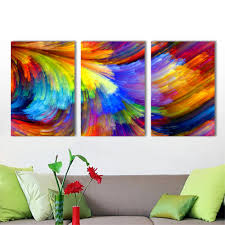 Modern Art Wohnzimmer Hdartisan Wand Leinwandbilder Bunte Muster Malerei Für Wohnzimmer