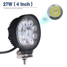 4 inch round led lights 4 inch round led work light bar 27w led flood lights fog lights
