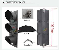 led traffic signal lights road safety 300mm pedestrian led traffic light with push button