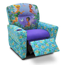 disney fairies floral blue u0026 purple childrens recliner hayneedle