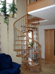 Decorations Captivating Wooden Spiral Staircase Design Space