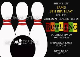 birthday invitations bowling party invitations templates ideas