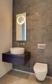 small powder bathroom ideas modern small powder room design featuring cool grey wood grain tiles
