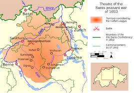 Map Of Switzerland And Germany by Swiss Peasant War Of 1653 Wikipedia