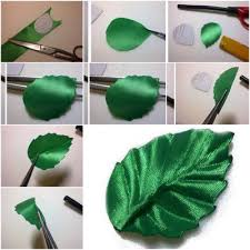 leaf ribbon how to make ribbon leaf step by step diy tutorial