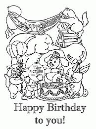happy birthday to you coloring page for kids holiday coloring