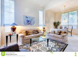 Blue Livingroom Bright White And Blue Living Room With Glass Coffee Table And Ru