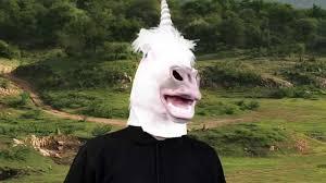 unicorn latex mask halloween masks trendyhalloween com youtube