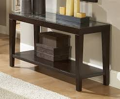 Glass Sofa Table Modern Homelegance Vincent Sofa Table With Glass Top 3299 05