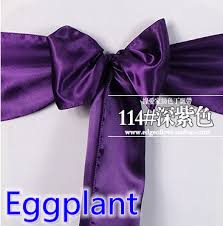 eggplant ribbon eggplant color satin sash chair bow tie ribbon nord belt wedding