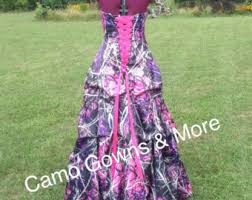 camo wedding dress gown with pick up and tulle peek a boo