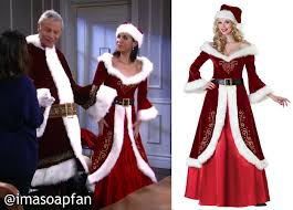 mrs claus costumes devane s mrs claus costume general hospital season 53