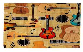 Guitar Area Rug Manual Woodworkers Weavers Guitar Collage Area Rug