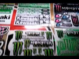 rock star monster energy drink sticker decal sheet cars