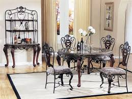 Rod Iron Dining Room Set Awesome Appealing Classic Glass Dining Room Table Sets Ideas With