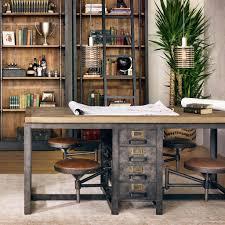 Partner Desk Home Office Cafeteria Table Partners Desk Pine And Desks