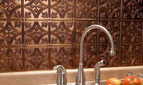 decor copper backsplash ideas stunning hammered copper