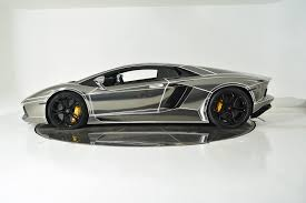 Lamborghini Aventador All Black - tron inspired chrome lamborghini aventador is on sale
