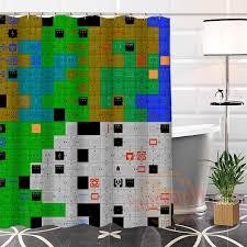 legend of zelda map with cheats custom the legend of zelda map shower curtain waterproof bathroom