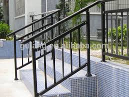 Outdoor Banister Aluminum Handrail Aluminum Stair Railing Southeastern Ornamental