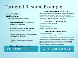 Security Job Description For Resume by Resumes For College Students By J Gholson