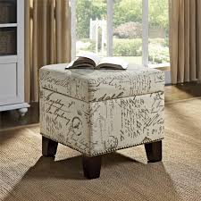 ottomans ottoman with patterned fabric round storage ottoman