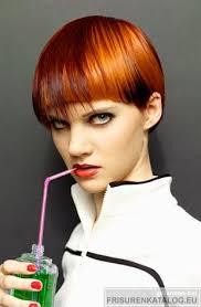 Kurzhaarfrisuren Rot by Kurzhaarschnitte Haarfrisur Für Damen In Kupfer Und Rot Bei