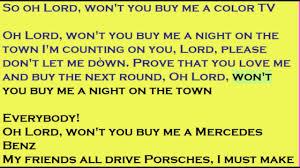 lord won t you buy me a mercedes janis joplin mercedes lyrics