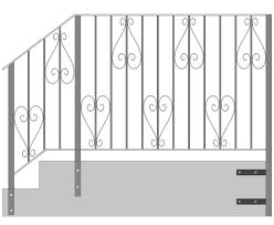 Standard Handrail Height Uk Wrought Iron Gates Railings Juliet Balconies Custom Made Metal Work