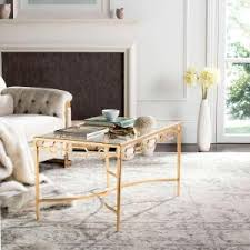 safavieh alec coffee table medium oak safavieh pierre antique gold leaf coffee table fox2559a the home depot
