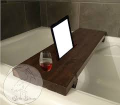 rustic bathtub caddy wood bathtub tray bath shelf