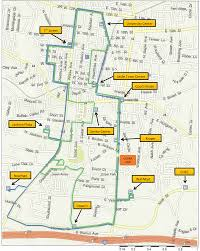 Tennessee Tech Campus Map by Green Blue And Gold Route Cookeville Area Transit System Cats