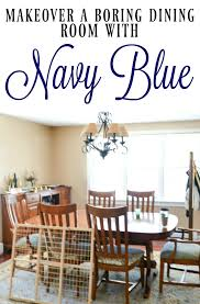 navy blue dining room makeover i am a homemaker this is an amazing dining room makeover with navy blue walls and fabulous wood accents