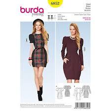 dress pattern john lewis buy simplicity burda young women s dress sewing patterns 6852
