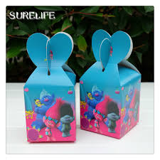 Dj Favor by 60pcs Lot Trolls Poppy Dj Suki Favor Box Gift Box