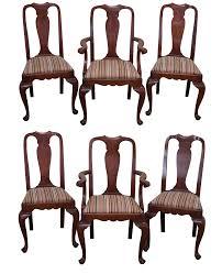 henkel harris dining room henkel harris cherry queen anne dining chairs 6 chairish